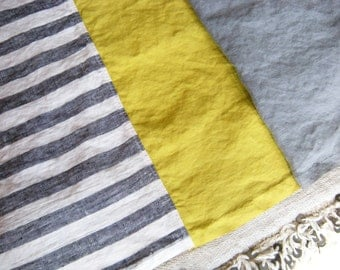 the simone washed linen beach towelbeach towel, linen beach towel, pareo, linen, washed linen
