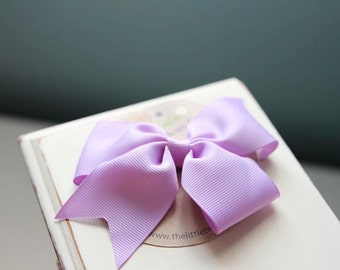 Lilac Bow Clip