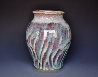 Ceramic Pottery Flower Vase Handmade Juniper Jade A