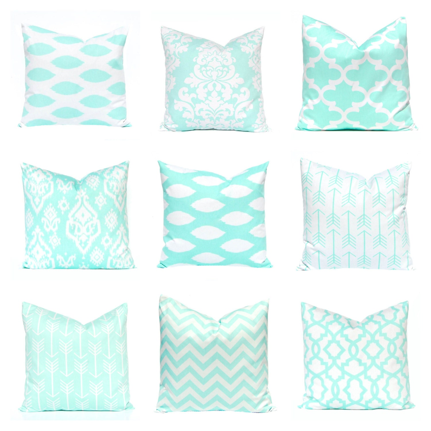 Mint Green Pillow Covers Decorative Pillow Covers Mint