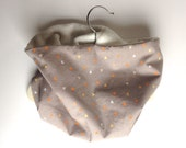 Neck Warmer, Tube Scarf:  Grey with Hearts