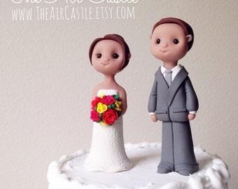 Custom people wedding cake topper handmade