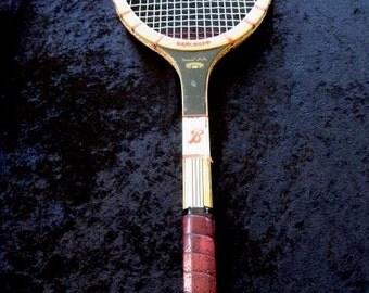 Vintage Bancroft Forest Hills Wood Tennis Racquet  Leather Grip