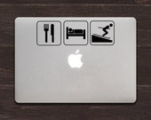 Eat Sleep Ski Vinyl MacBook Decal BAS-0139