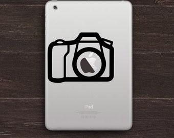 Camera Apple Vinyl iPad Decal BAS-0121