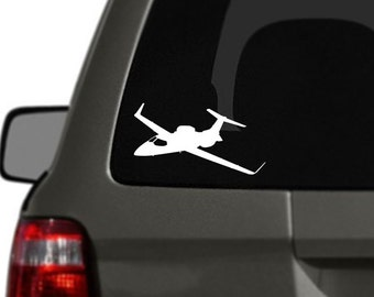 Private Jet Vinyl Car Decal BAS-0309