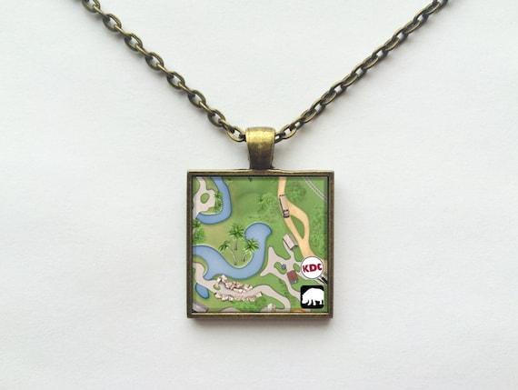 Kilimanjaro Safaris Necklace from Walt Disney World Animal Kingdom Park Map