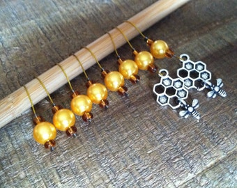 The Beekeeper Stitchmarkers