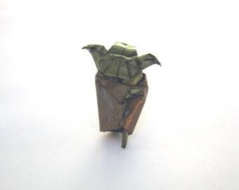 miniature origami yoda pin