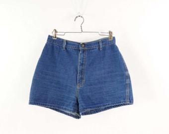 VINTAGE 1970s Denim Shorts Blue Jeans