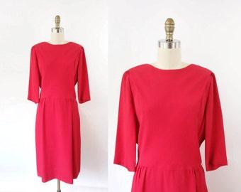 VINTAGE 1950s Red Dress