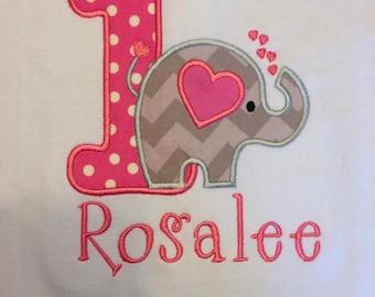 Elephant 1st Birthday Shirt, Elephant Birthday Shirt, Cute Elephant Birthday, Elephant Birthday, 1st Birthday Shirt, Love Elephants