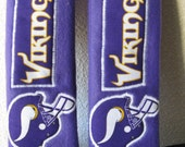 Vikings Seat Belt  Covers (set of two) in white, purple and gold