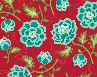 La Vie Boheme Main in Red by The Quilted Fish - Half Yard