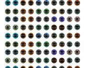 6mm Realistic Human Eyes Printout Collage Sheet of Eye Designs for Cabochon and Jewelry Making or Scrapbooking