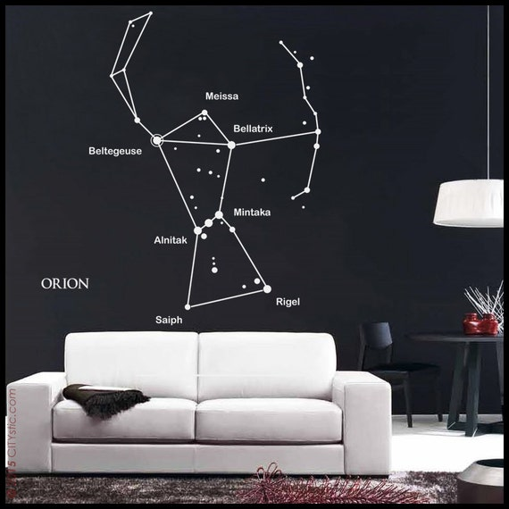 astronomy wall decal orion constellation sticker with main