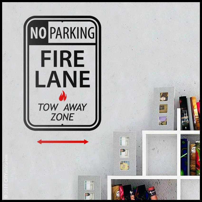 usa sticker mural signalisation panneau de parking. Black Bedroom Furniture Sets. Home Design Ideas
