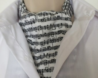 New Ascot Tie Cravat.  100% cotton.  Music lover/player special