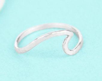 Wave Ring - Sterling Silver - Ocean Ring - Wave Jewelry - Ocean Jewelry