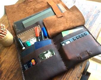 BriarOak Laptop Bag / Leather Laptop Case / Sleeve / Travel Organizer / Leather iPad Case / Leather Bag / Portfolio / Clutch Bag / iPad