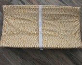 contour changing pad cover, gold aztec changing pad