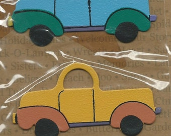 Embellish Your Story   --  Trucks -- 3 magnetic pieces -- magnetic embellishments --  NEW  --  (#1117)