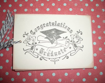 Graduation Tag - Congratulations Graduate - Set of Six - Handmade