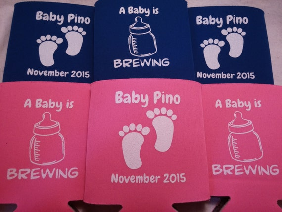 Baby Shower Koozie Favors ~ Baby shower favors can coolers design by odysseycustomdesigns