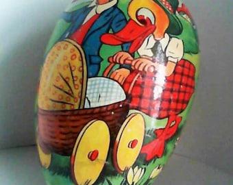 Paper Mache Egg Ducks with Stroller