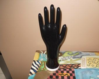 Black Industrial Glove Mold Hand Display