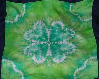 St. Patricks Day Shamrock Playsilk ~ Green ~ Hand Dyed ~ Waldorf Inspired!