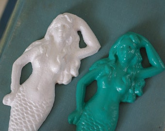 Mermaid Wall Hook - Cast Iron  - PICK YOUR COLOR