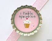 Funny Cupcake Bottle Cap Magnet, cupcake magnet, funny fridge magnet, cupcake baby shower favors, cupcake party favor, cupcake kitchen decor