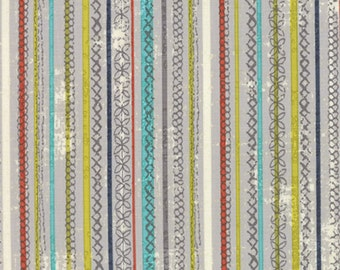 Garden Project - Stitched Stripe in Pebble by Tim & Beck for Moda Fabrics