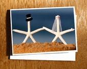Starfish Wedding CARD   Starfish on the Beach Love Card, Beach Wedding Card, Starfish Bride and Groom Card, Quirky Wedding Card