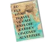 PASSPORT COVER - Go fly Roam Travel Voyage Journey Discover Adventure