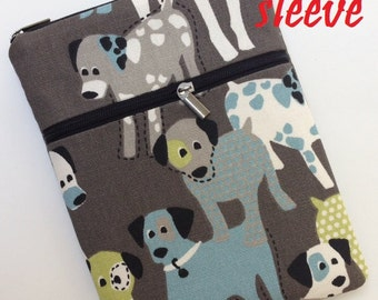 personalized SLEEVE cover for ipad / ipad mini / kindle / nook / samsung - dogs