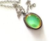 Mood Stone Locket Necklace