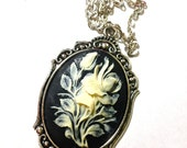 Iris Flower cameo necklace