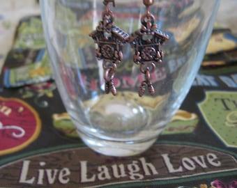 Tiera Cast Cuckoo Clock Earrings