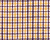 Fabric Finders Purple and Gold Check