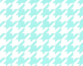Fabric Finders Aqua Houndstooth