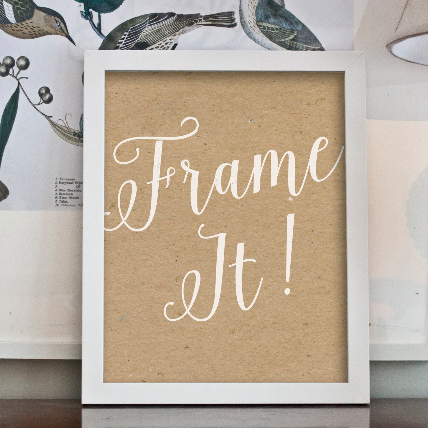 Stay Awhile print with burlap background