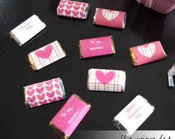 Mini chocolate wrappers - Valentine's Day - Printables