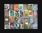 "11x14"" Color Alphabet Print - Letter Art Photography - Baby Shower Gift/Nursery Decor/Playroom Art"