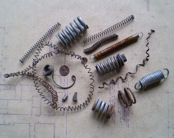 Salvaged Metal Springs and Coils - Found Objects for Assemblage, Sculpture or Altered Art - Industrial Salvage