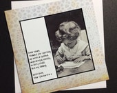 Mother Birthday / Mother's Day Card - Dear Mum, Thanks for putting up with ...