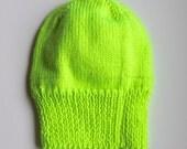Neon Yellow Knit Hat