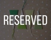 RESERVED: Set of 4 Modern Wrapped Paper Christmas Tree Ornaments in Green and White