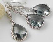 Grey Bridesmaid Jewelry | Grey Wedding Jewelry | Bridal Jewelry | Grey Bridesmaid Earrings | Grey Bridal Jewelry | Grey Jewelry | Bridesmaid
